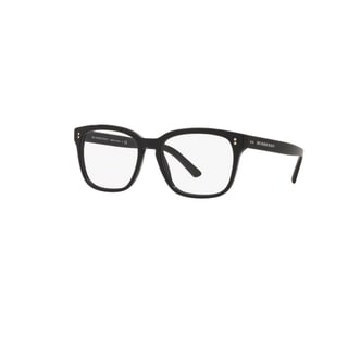 Burberry BE2225 3001 Black Plastic Square Eyeglasses with 55mm Lens