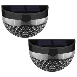 Black 6-LED Solar-powered Wireless Weatherproof Auto-sensor Outdoor Lights (Set of 2)