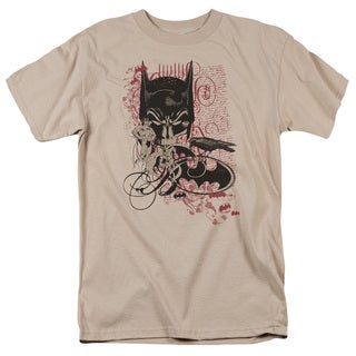 Batman/Heroic To The Bone Short Sleeve Adult T-Shirt 18/1 in Sand