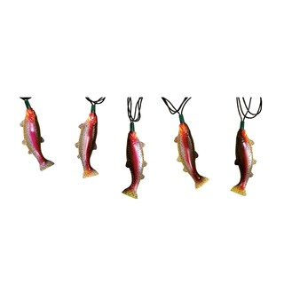 River's Edge Rainbow Trout 10-light Party Light Set