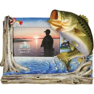 River's Edge 470 4 Inch x 6 Inch Bass Picture Frame