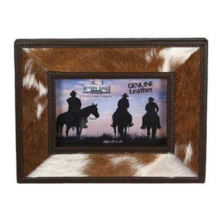 River's Edge Cowhide Leather 4-inch Picture Frame