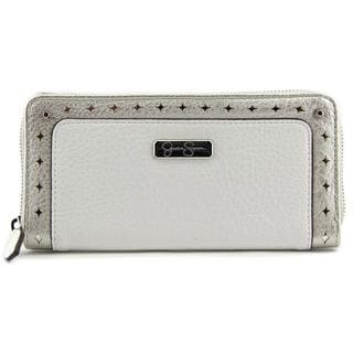 Jessica Simpson Women's 'Christina Wallet' White Leather Handbag