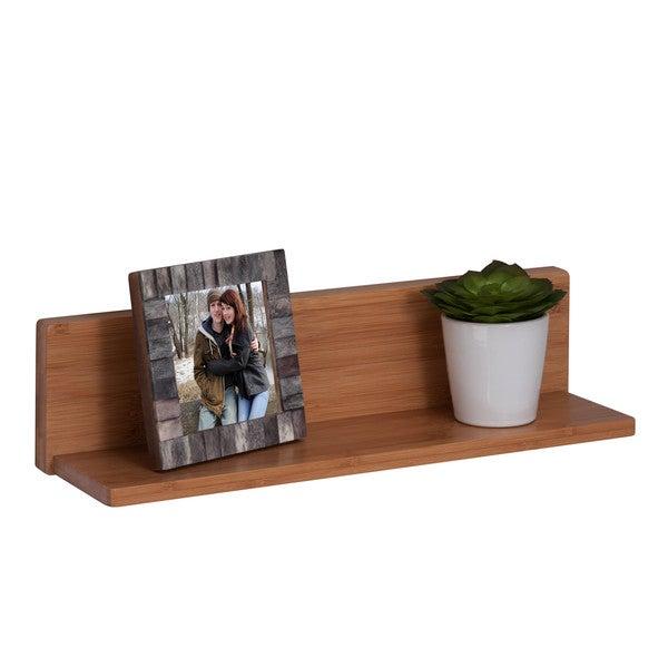 Honey-Can-Do Bamboo L Shelf