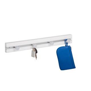 White Wall Hanger w/ 4 hooks