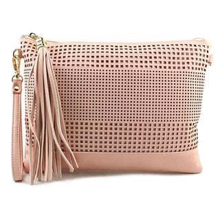 Kelly & Katie Women's Kali Pink Faux Leather Handbag