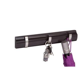3-hook wall hanger, black