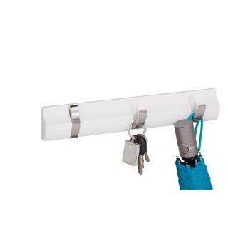 3-hook wall hanger, white