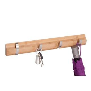 4-hook wall hanger, bamboo