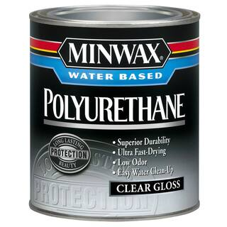 Minwax 63015 1 Quart Minwax Water Based Gloss Polyurethane|https://ak1.ostkcdn.com/images/products/12428617/P19245259.jpg?impolicy=medium