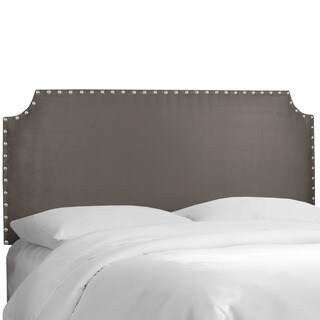 Skyline Furniture Charcoal Notched Upholstered Headboard