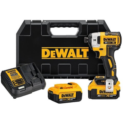 DEWALT DCF887M2 20V MAX XR Li-Ion 4.0 Ah Brushless 0.25-inch 3-speed Impact Driver Kit