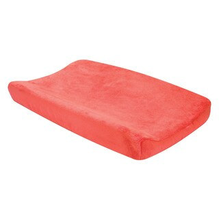 Trend Lab Nursery Porcelain Rose Coral Plush Changing Pad Cover