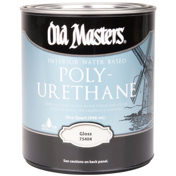 Old Masters 75404 1 Quart Gloss Water Based Polyurethane