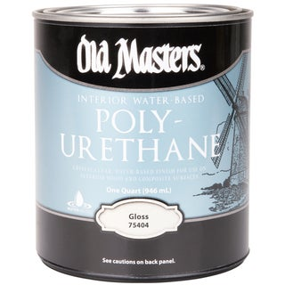 Old Masters 75404 1 Quart Gloss Water-Based Polyurethane