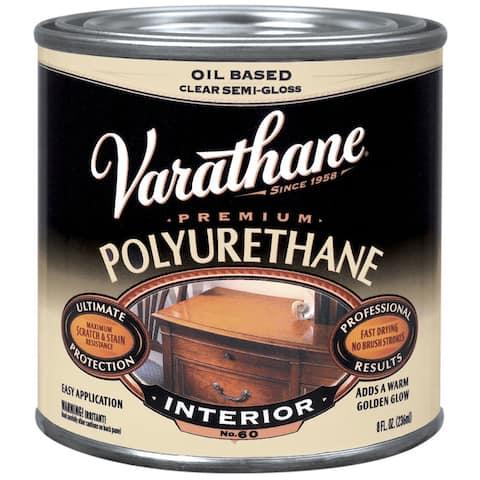 Varathane 242172H 8 Oz Oil Based Clear Semi Gloss Polyurethane