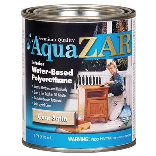 Aqua Zar 32511 1 Pint Clear Satin Aqua Zar Water Based Polyurethane