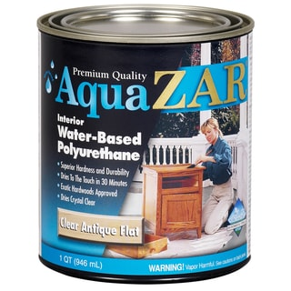 Aqua Zar 34412 1 Quart Clear Antique Flat Aqua Zar Based Polyurethane
