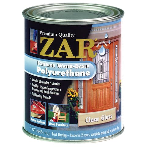 Zar 32612 1 Quart Clear Gloss Zar Exterior Water Based Polyurethane