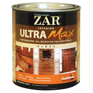 Zar 36012 1 Quart Gloss Interior Waterborne Oil Modified Polyurethane