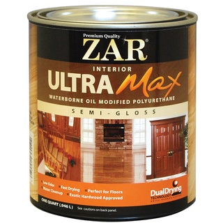 Zar 36112 1 Quart Interior Waterborne Oil Modified Polyurethane