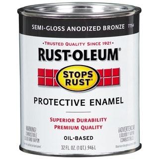 Rustoleum 7754-502 1 Qt Anodized BrnzeSemi Gloss Stops Rust Protective Enamel