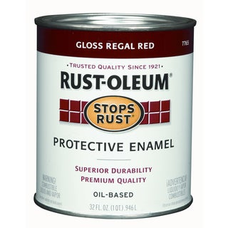 Rustoleum Stops Rust 7765-502 1 Quart Regal Red Gloss Stops Rust Protective Enamel