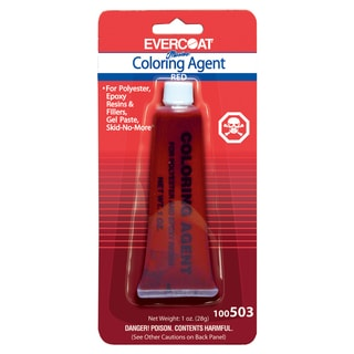 Evercoat 100503 1 Oz Tropical Red Evercoat Coloring Agent
