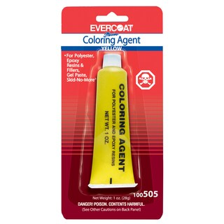 Evercoat 100505 1 Oz Tube Sunset Yellow Evercoat Coloring Agent