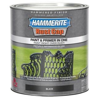 Hammerite Rust Cap 43140 1 Qt Black Hammered Enamel Paint