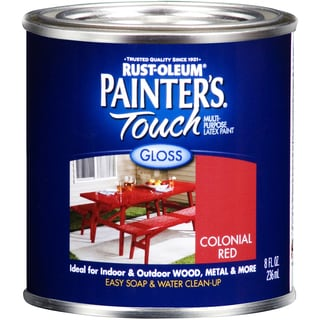 Painters Touch 1964-730 Half Pint Colonial Red Gloss Latex Paint
