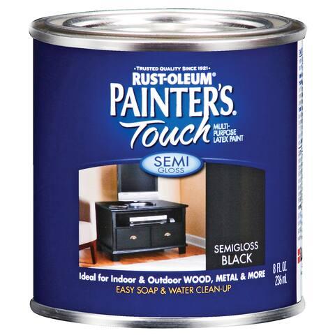 Painters Touch 1974-730 1/2 Pint Semi Gloss Black Painters Touch Multi-Purpose Pain