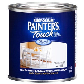 Painters Touch 1993-730 ½ Pint Semi Gloss White Painters Touch Multi-Purpose Pain