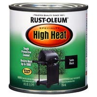 Rustoleum Stops Rust 7778 730 1/2 Pint Black High Heat Oil-Based Protective Enamel Paint