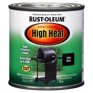 Rustoleum Stops Rust 7778 730 1/2 Pint Black High Heat Oil-Based Protective Enamel Paint