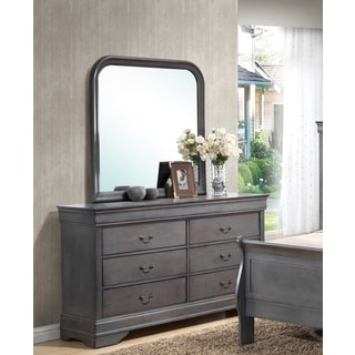 LYKE Home Lawson Grey Dresser and Mirror Set