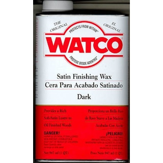 Watco 66941 1 Quart Finishing Wax Dark Tone Satin