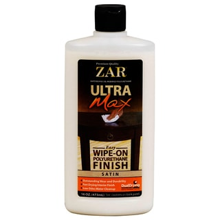 Zar 37211 16 Oz Satin Ultra Max Easy Wipe On Polyurethane Finish
