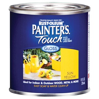 Painters Touch 1945-730 1/2 Pint Sun Yellow Painters Touch Multi-Purpose Paint