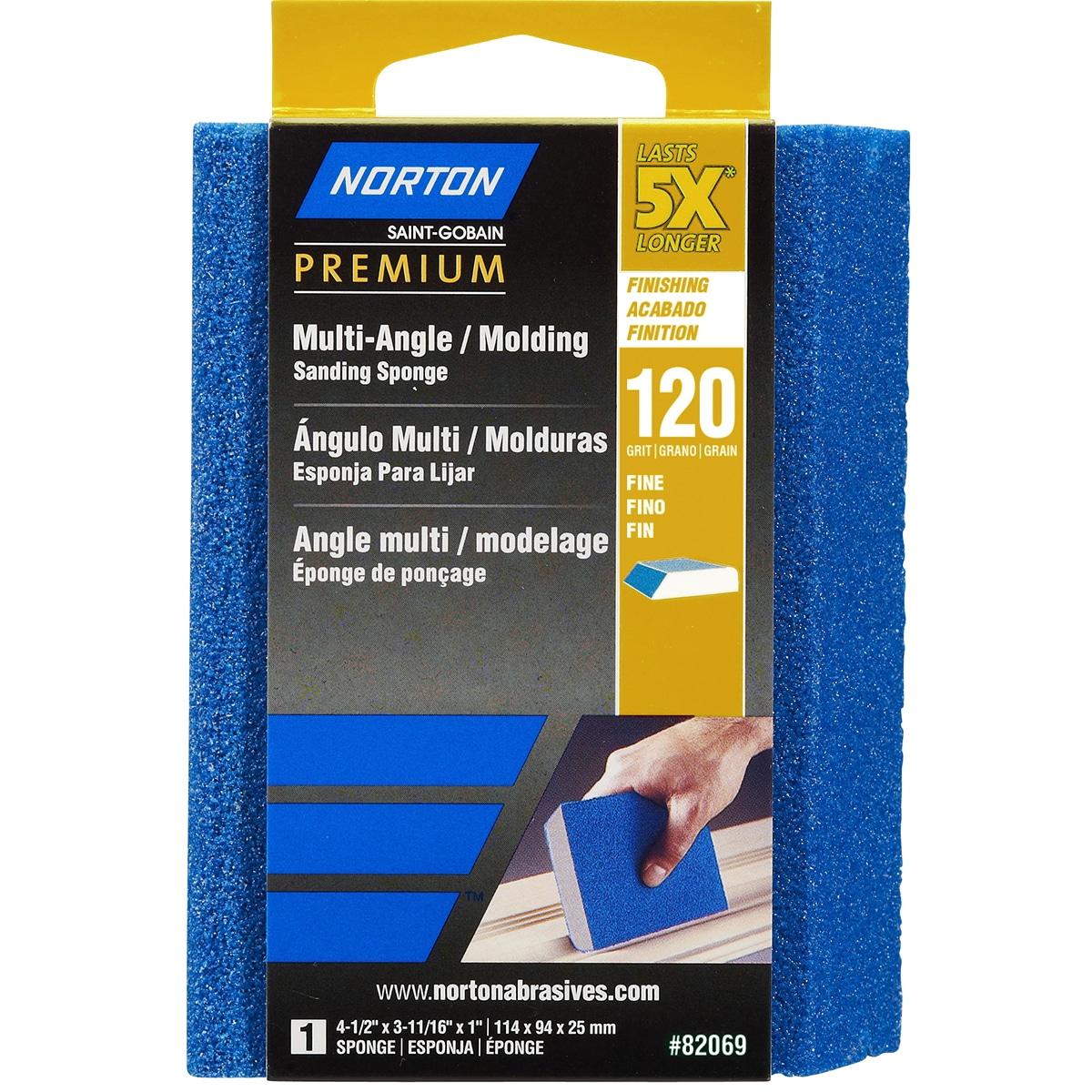 Norton 82069 120 Grit 5X Multi-Angle Sponge (Hand Sanders...