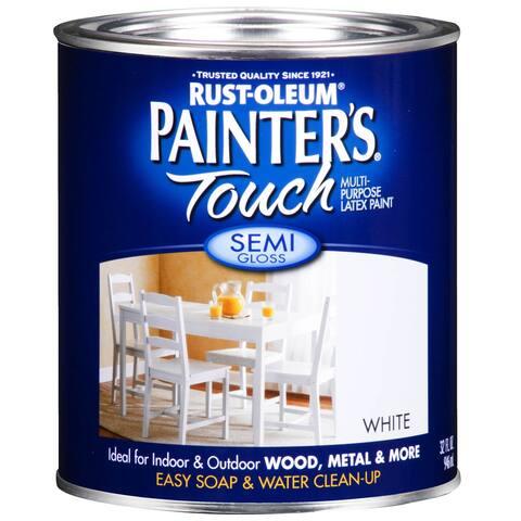 Painters Touch 1993-502 1 Quart Semi Gloss White Painters Touch Multi-Purpose Paint