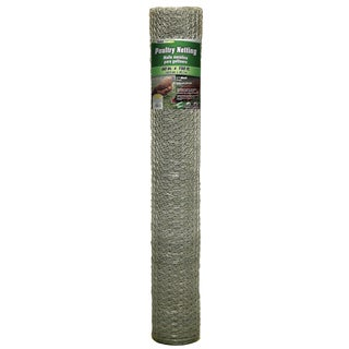 Yard Gard 308434B 60 inches x 150 feet 1 inch Mesh Galvanized Poultry Netting