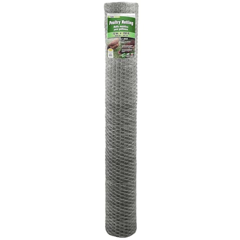 Yard Gard 308435B 72 inches x 150 feet 1 inch Mesh Galvanized Poultry Netting