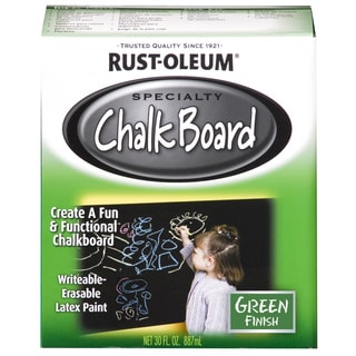 Rustoleum 206438 1 Quart Green Chalk Board Paint