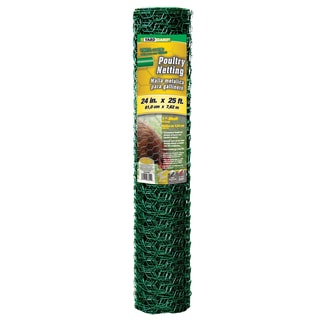 Yard Gard 308452B 24 inches x 25 feet 1 inch Mesh PVC Coated Green Poultry Netting