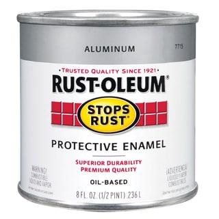 Rustoleum Stops Rust 7715 730 1/2 Pint Aluminum Protective Enamel Oil Base Paint