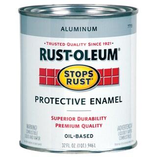 Rustoleum Stops Rust 7715-502 1 Quart Aluminum Protective Enamel Oil Base Paint