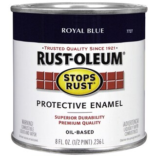 Rustoleum Stops Rust 7727 730 1/2 Pint Royal Blue Protective Enamel Oil Base Paint