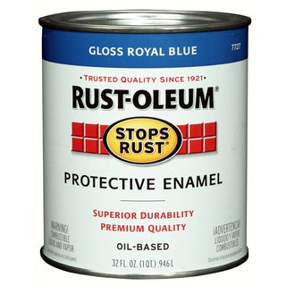 Rustoleum Stops Rust 7727-502 1 Quart Royal Blue Protective Enamel Oil Base Paint