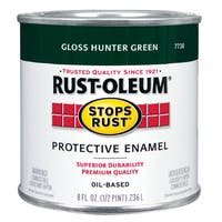 Rustoleum Stops Rust 7738 730 1/2 Pint Hunter Green Protective Enamel Oil Base Paint